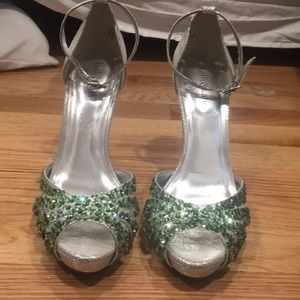Shoes - HAND JEWELED occasion heels!